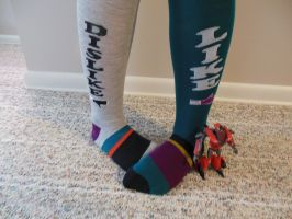 Facebook Socks by FunkyK38