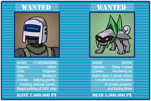 Starbound wanted poster by TGWabba