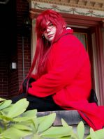 Grell looking so sad that his Sebastian isn't here by Koralene