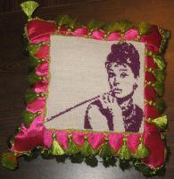 Audrey Hepburn Xstitch by coincollect408