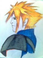 Cloud Strife in quicksketch by ProtoCall13o2
