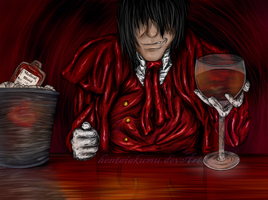 "Hellsing.--""Cheers"" by hentaiakumu"