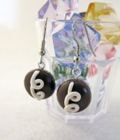 Hostess Cupcake Earrings by egyptianruin