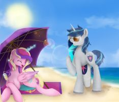Shining and Cadence Summer Vacation by DigitalCyn