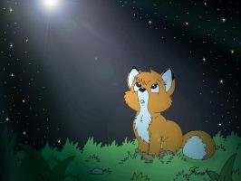The fox and the hound: Goodbye may seem forever! by fredvegerano