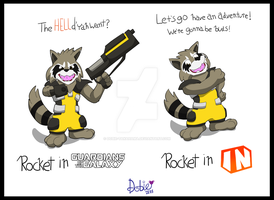 The 2 Sides of Rocket Racoon by Dobie-Takahama