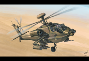 helicopter AH 64 apache by PVersus