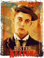 Buster Keaton vector tshirt by kingsley-wallis