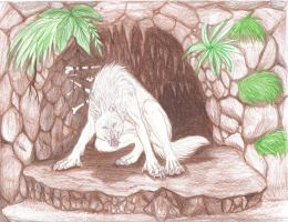 Angry Albino wolven by MysticGaia