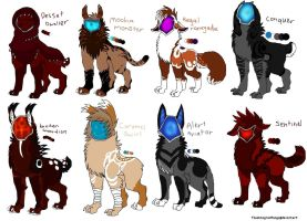 Creature Adoptables by flashingredfangs