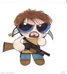 Daryl Powerpuff by DarkLadyJade