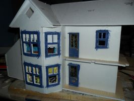Retro Dollhouse WIP: Beginning the outside by kayanah