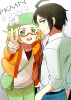 Pkmn BW2- Gym Leader Cheren and Asst Bel by meru-chan
