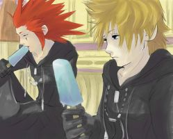 +Axel and Roxas+ by Chinchikurin