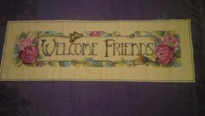 Welcome Friends Banner by Sippen