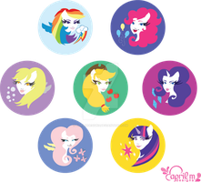 My Little Ponies FIM by aprilmdesigns