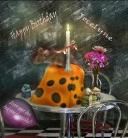 Happy Birthday Jocelyne  by LindArtz