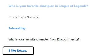 Hand off, Cleverbot! Roxas is mine! by PokemonBWishesCilan