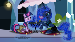 Try This - Luna and Twilight by erinmaye by NeysaNight