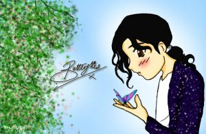 Michael Jackson Butterflies by Meggy-MJJ