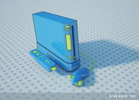 WII Nunchuck Pastel Render by ozanbdesign