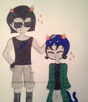 Homestuck - EqiNep - I ship it... by InvaderBlitzwing