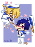 Sailor!Rei and Sailor!Nagisa by cat-doodle