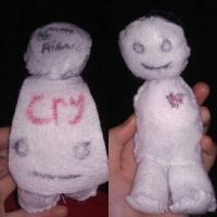 cry plush with removable cape by riancattlove