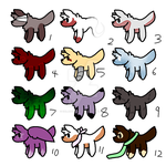 10 point wolf/dog adopts by galaxyghosts