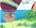 hot air balloon view by MidnaWatchesYou