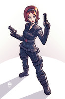 Black Widows New Doo - Slot Commission by EryckWebbGraphics