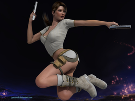 Lara in action by JpauCroft