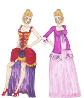 Isabelle's Rococo Costume Designs by InkyRose