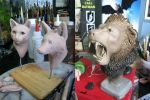 :.Animal busts - WIPs.: by XPantherArtX