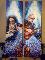 Joe Satriani and Steve Vai by waijay90