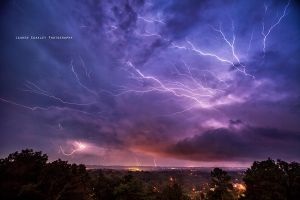 Lightning Over Chattanooga by LaurenCoakley