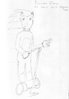 Roronoa Sonic on a Segway by soncomsketchbook