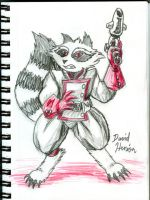 Rocket Raccoon Doodle by strangefour