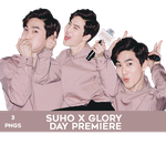 Suho at Glory Day's Premiere PNG Pack by Bears-and-Cookies