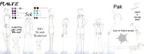 Raltz and Sek charactor sheet by elfy016
