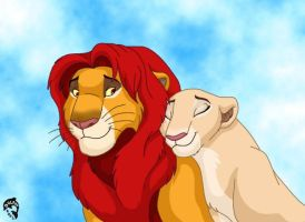 Simba and Nala by DolphyDolphiana