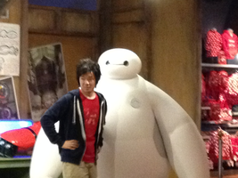 Baymax at Disneyland! by Cartuneslover16