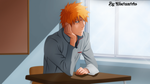 Ichigo in school by Wowauwero