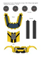 TFP Bumblebee (Yellow) Papercraft - Template by ProjectKITT