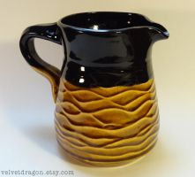 Amber Tenmoku and Black Pitcher by tser