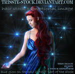 Red Goddess hair PROMO by Trisste-stock