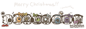 Merry Christmas Cores by jamknight