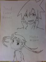 Soul and Maka :D by KatelandsMorgue