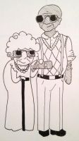 This one old couple by allistella