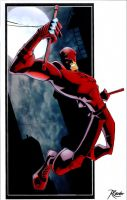 Sketchy Daredevil colored by RCarter